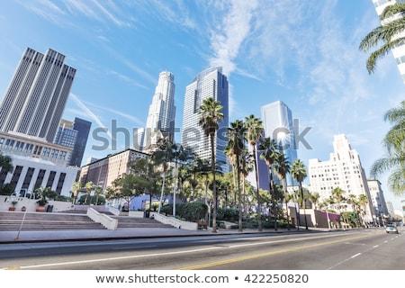 Fachada arranha-céu centro da cidade Los Angeles árvore edifício Foto stock © meinzahn