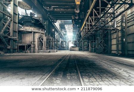 Stock fotó: Elhagyatott · gyár · ipari · épület · belső · plafon