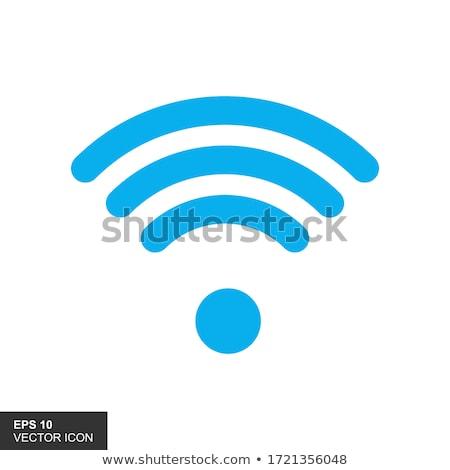 wifi blue icon Stock photo © nickylarson974
