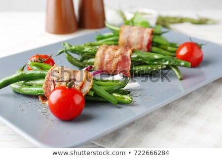 Verde pomodoro vegetali pasto piatto dieta Foto d'archivio © M-studio