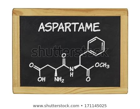 aspartame chemical formula on school chalkboard stock photo © stevanovicigor