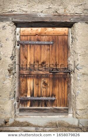 old wooden grunge door stock photo © nejron