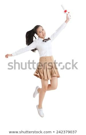 Chinesisch Mädchen Schuluniform glücklich Kind Stock foto © monkey_business