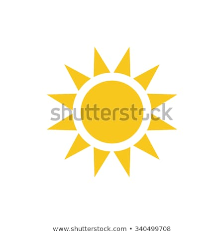 Stock photo: Sun icons set in flat style