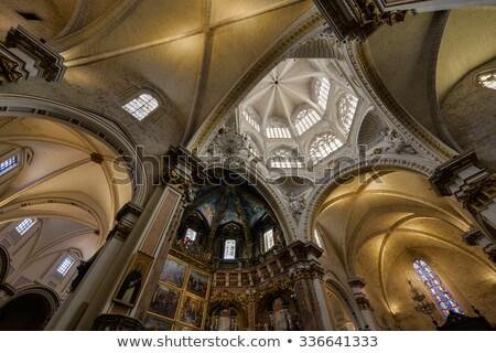 Plafon Valencia katedrális Spanyolország építkezés szín Stock fotó © Photooiasson