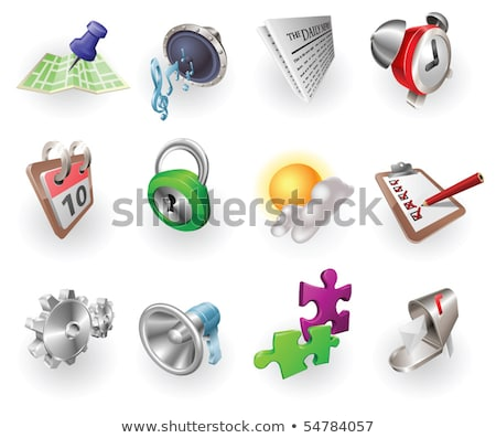 alarm icon in puzzle Stock photo © Istanbul2009