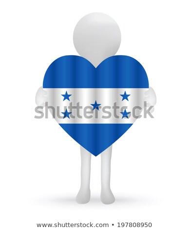 Piccolo uomo 3d Honduras bandiera eps Foto d'archivio © Istanbul2009