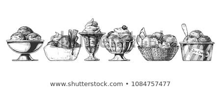 Ijs illustratie zoete dessert voedsel Stockfoto © sabelskaya