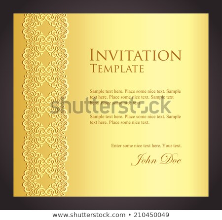Luxe gouden uitnodiging imitatie kant exclusief Stockfoto © liliwhite