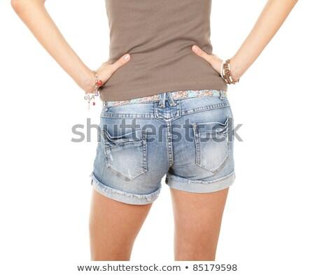 женщины задницу джинсов шорты женщины Sexy Сток-фото © Nobilior