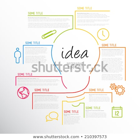 modern idea infographic template made from lines stock photo © orson