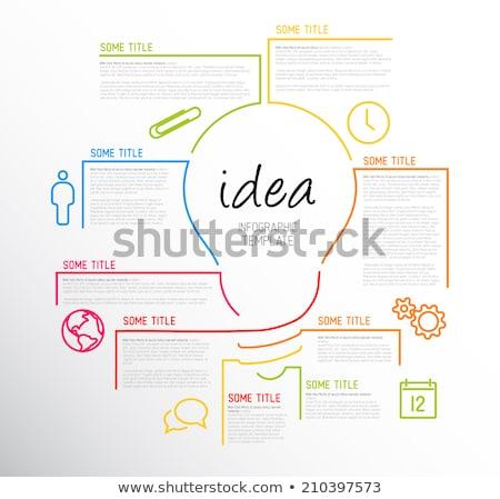 Stock foto: Modernen · Idee · Vorlage · Zeilen · Vektor