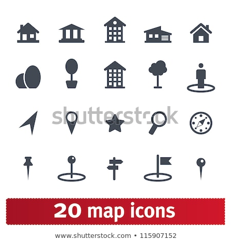Building Marker Icons Stock photo © cteconsulting