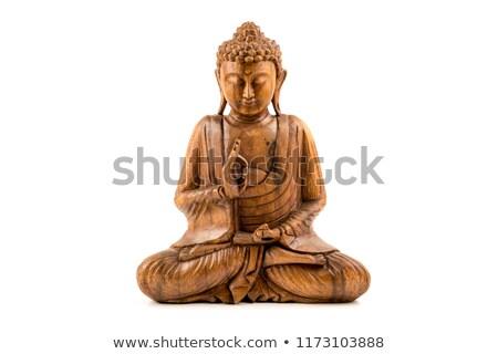 bağbozumu · Buda · heykel · meditasyon · eski - stok fotoğraf © hofmeester