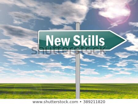 mentoring · snelweg · wegwijzer · weg · achtergrond · onderwijs - stockfoto © tashatuvango