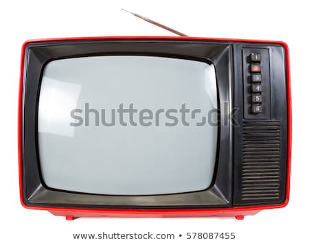 vintage portable tv set stock photo © naumoid