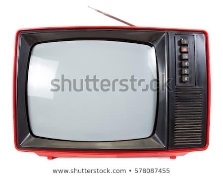 Vintage portable TV set Stock photo © naumoid