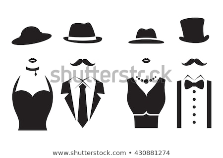 Gentleman and lady. Couple. Pair. Vector illustration Stock photo © leonido