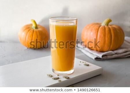 zucca · succo · alimentare · salute · arancione · verde - foto d'archivio © yelenayemchuk