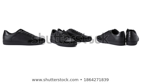 Par negro fetiche zapatos aislado blanco Foto stock © Elisanth