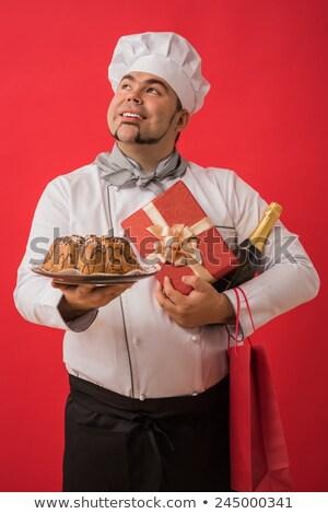 kezek · szakács · főzés · tömés · pite · konyha - stock fotó © hasloo