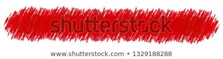 красный пастельный карандаш место изолированный белый Сток-фото © gladiolus