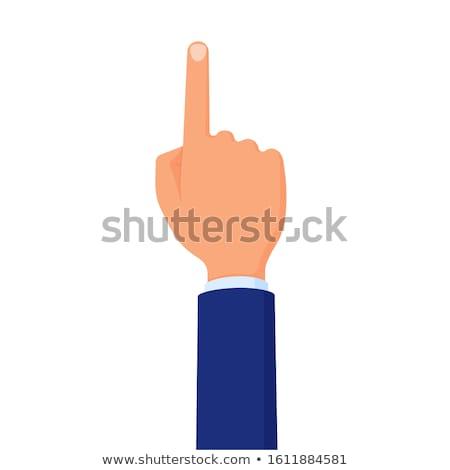 Hand wijsvinger omhoog kaukasisch witte Stockfoto © stevanovicigor