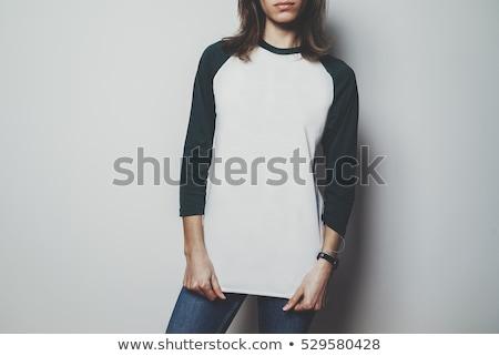 Pretty Woman in White Long Sleeve Shirt Stock photo © dash