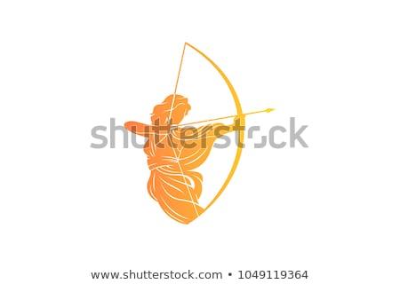 женщины лучник красочный вектора изображение готовый Сток-фото © bootedcatwebworks