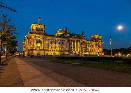 ночь Берлин вид сбоку здании Германия свет Сток-фото © joyr