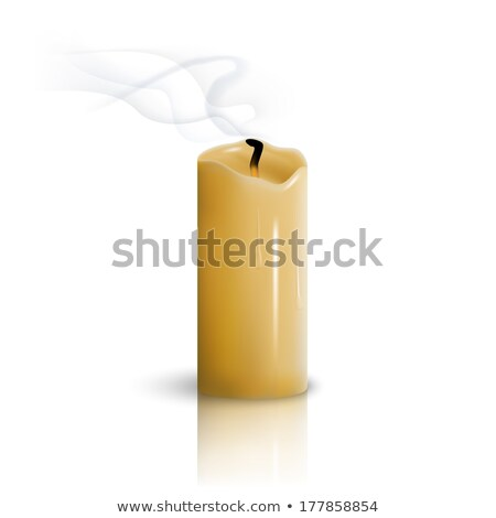 Burnt extinguished wick on a candle Stock photo © juniart