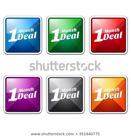 1 Month Deal Blue Vector Icon Button Stock photo © rizwanali3d