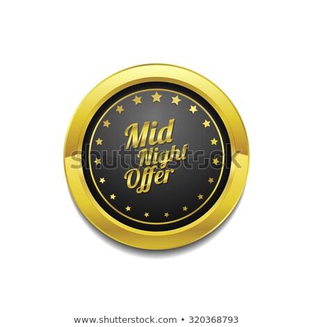 éjfél ajánlat arany vektor ikon gomb Stock fotó © rizwanali3d
