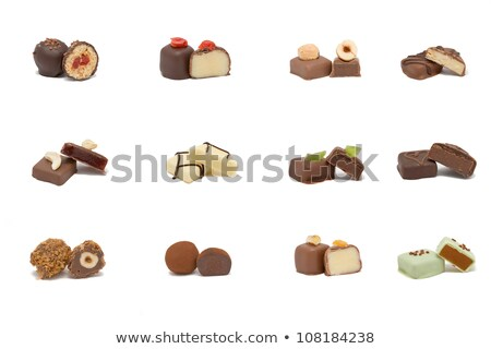 stack of different truffle pralines stock photo © Rob_Stark