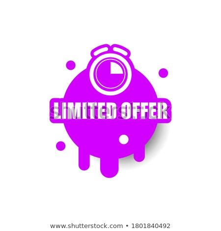 Limited Purple Vector Icon Design Stock photo © rizwanali3d