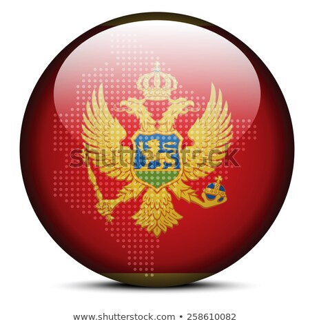 map with dot pattern on flag button of montenegro stock photo © istanbul2009