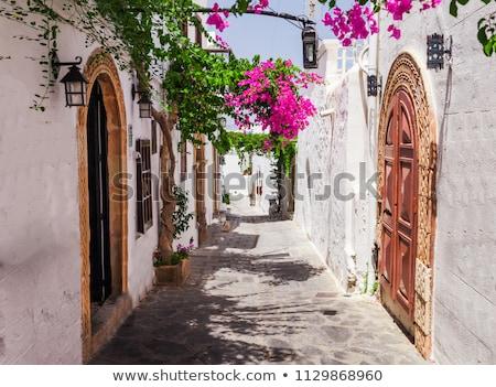 Anciens ville Grèce plage ciel maison Photo stock © AntonRomanov