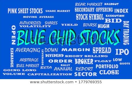 Relatório palavra azul cor volume quebra-cabeça Foto stock © tashatuvango