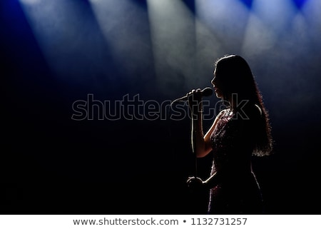 female singer silhouette stock photo © illustrart