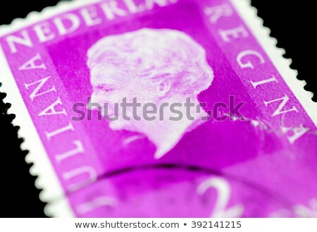 dutch vintage postage stamp with queen wilhelmina stock photo © hofmeester