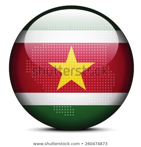 карта · флаг · кнопки · республика · Суринам · вектора - Сток-фото © istanbul2009