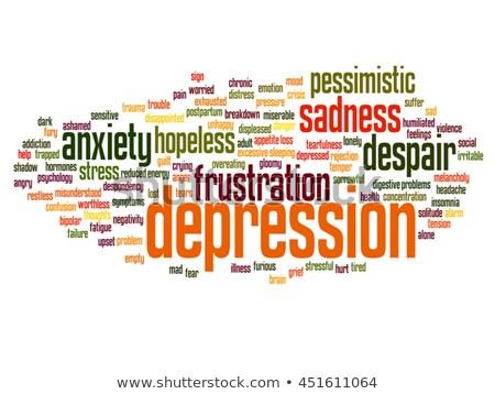 Depression word cloud Stock photo © tang90246