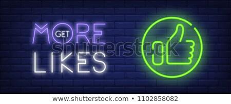 Zdjęcia stock: Like Thumbs Up Symbols Get More Likes