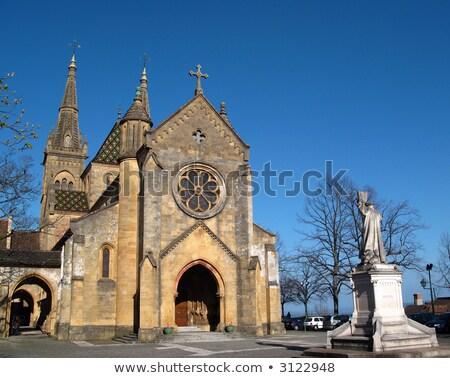 Церкви Швейцария протестантский закат синий каменные Сток-фото © Elenarts