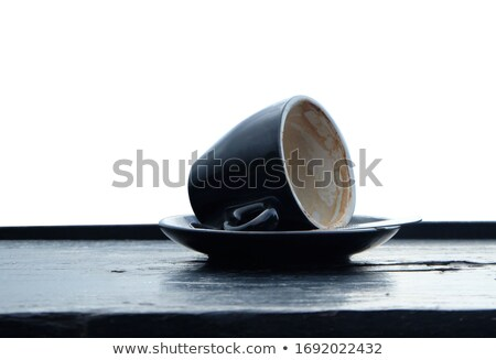 Finished cup of Turkish coffee viewed from above Stock photo © ozgur