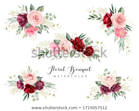花束 バラ 水彩画 花 結婚式 自然 ストックフォト © artibelka