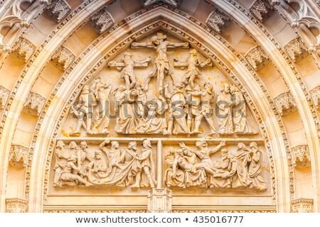 Main Entrance to Prague Saint Vitus Cathedral Stock photo © stevanovicigor
