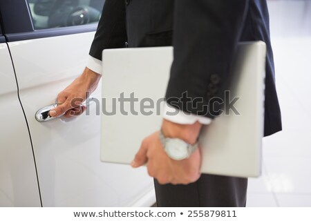 Uomo auto porta laptop Foto d'archivio © wavebreak_media