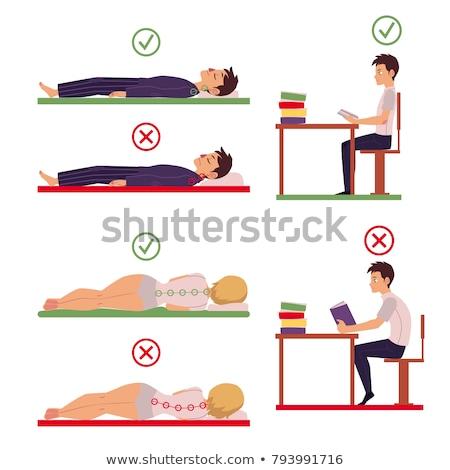 Homme · musculaire · anatomie · vue · arrière · illustration - photo stock © deandrobot