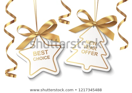 Christmas Offer golden Vector Icon Design Stock photo © rizwanali3d